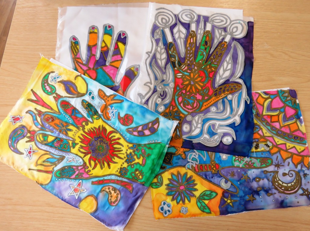 Making Time: Silk Painting, Tonia's Seaham June/July 2018