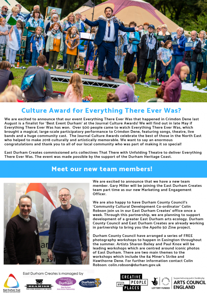 Copy of East Durham Creates Winter Newsletter. (4)